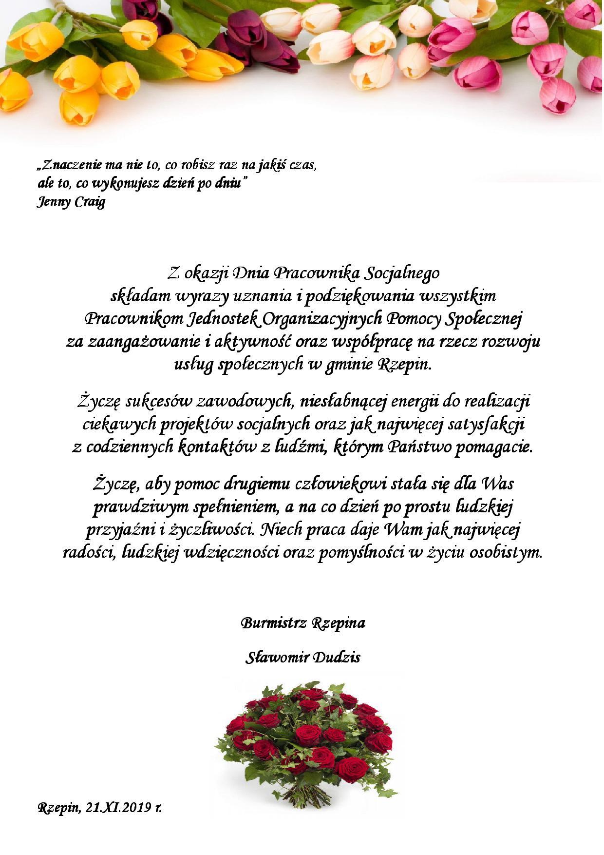 Ilustracja do informacji: Życzenie z okazji Dnia Pracownika Socjalnego