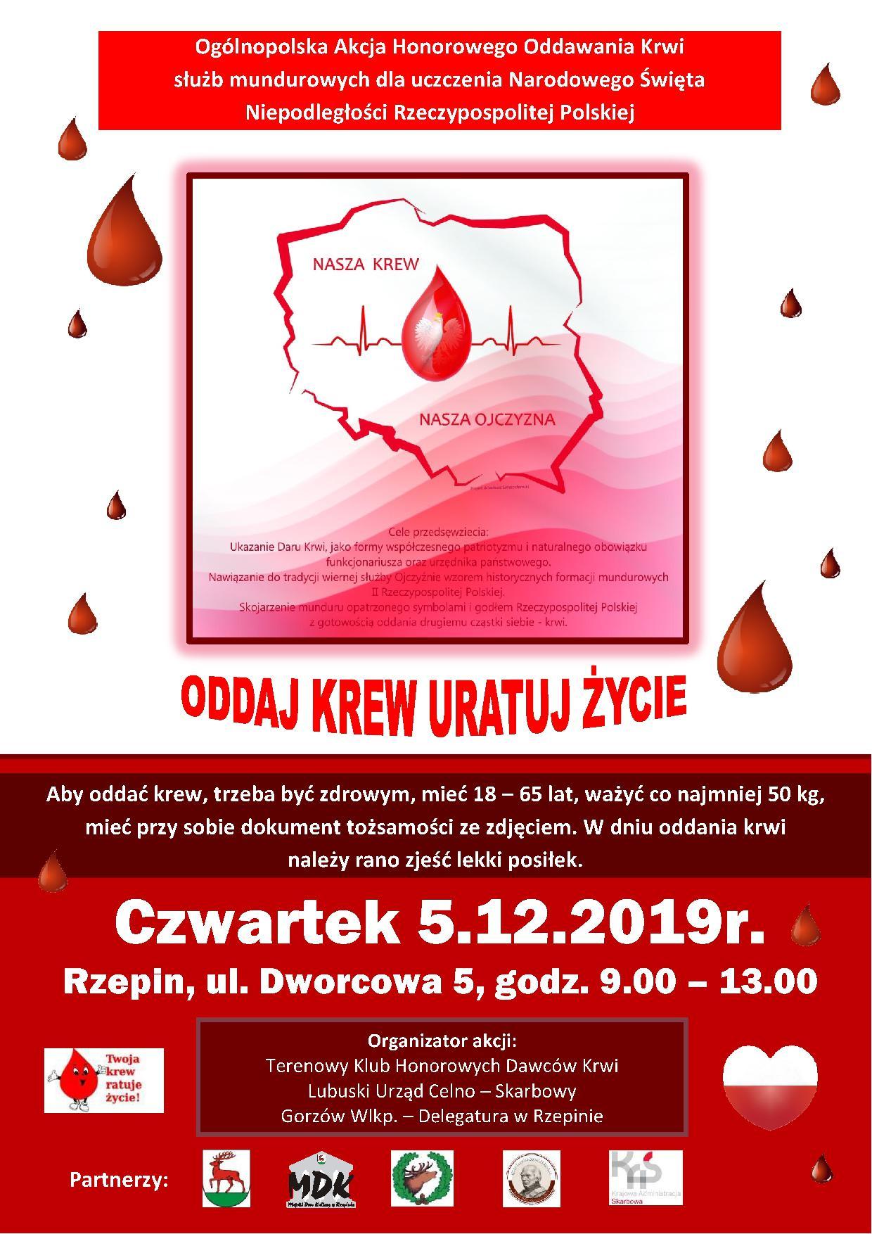 Ilustracja do informacji: Oddaj krew - uratuj życie!