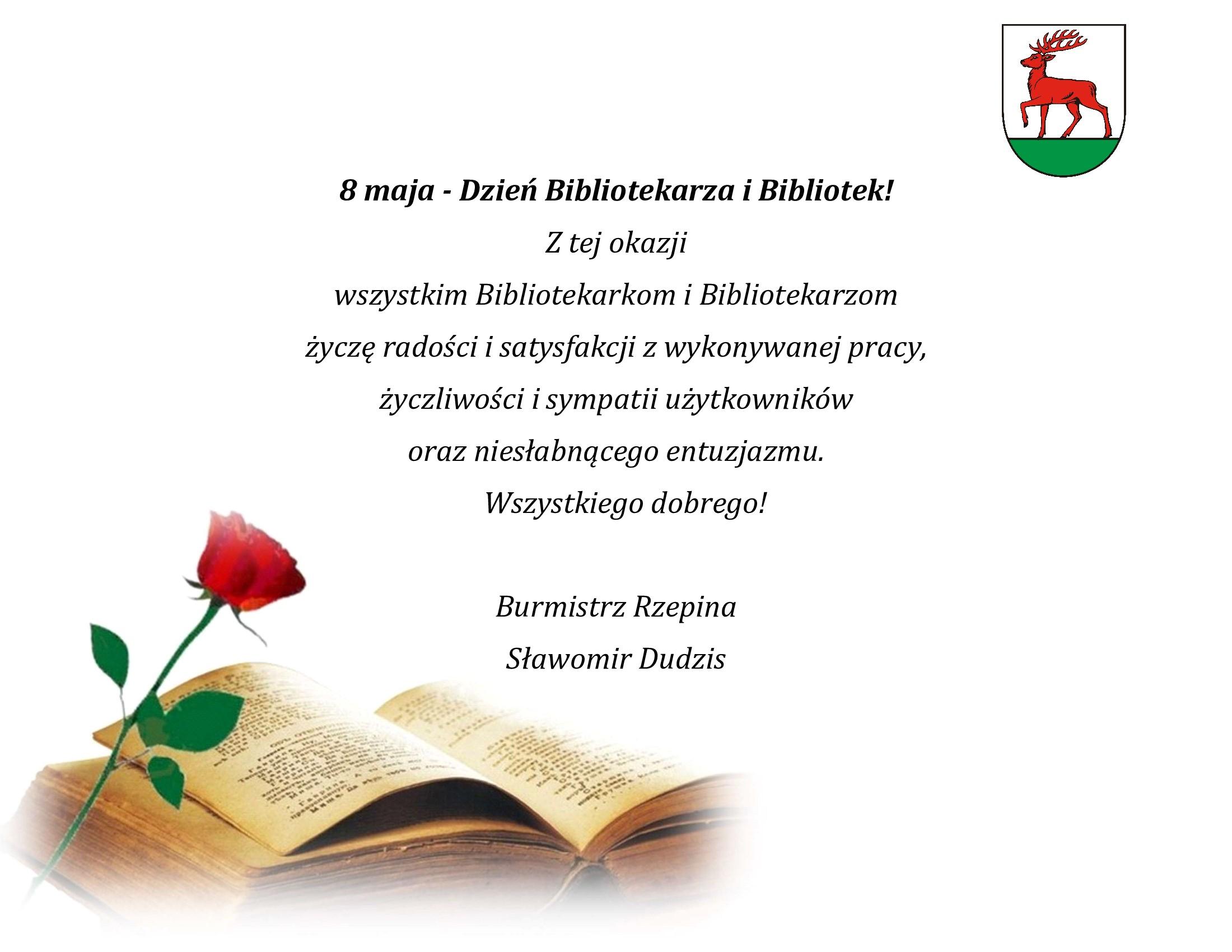 Ilustracja do informacji: Najlepsze życzenia dla Bibliotekarzy!