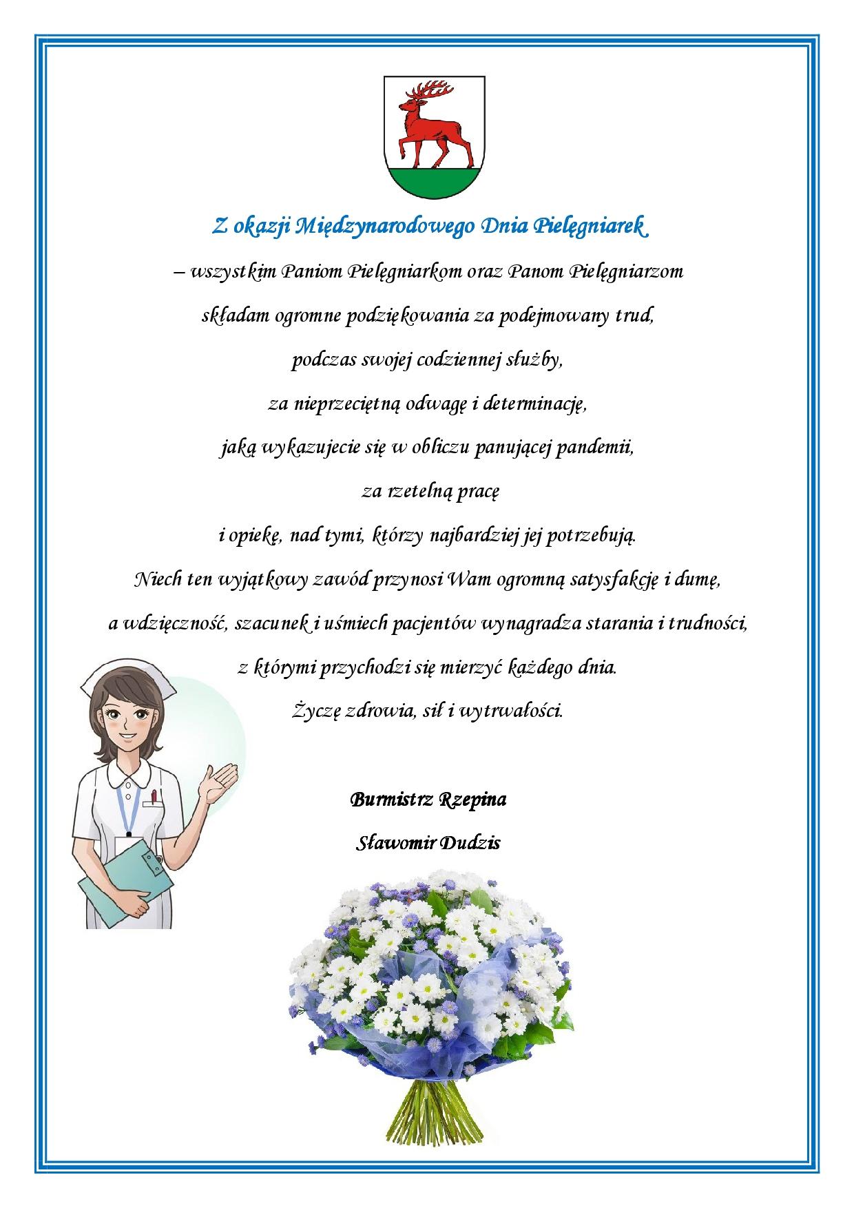 Ilustracja do informacji: Życzenia z okazji Międzynarodowego Dnia Pielęgniarek
