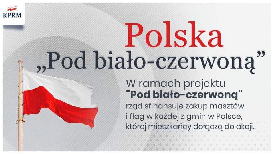 """Ilustracja do informacji: Ruszył projekt """"Pod biało - czerwoną""""! Zapraszamy mieszkańców gminy do oddawania głosów!"""