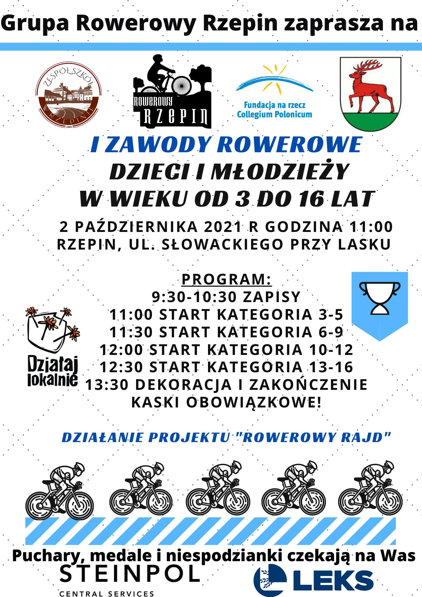 Ilustracja do informacji: Zapraszamy na zawody rowerowe!