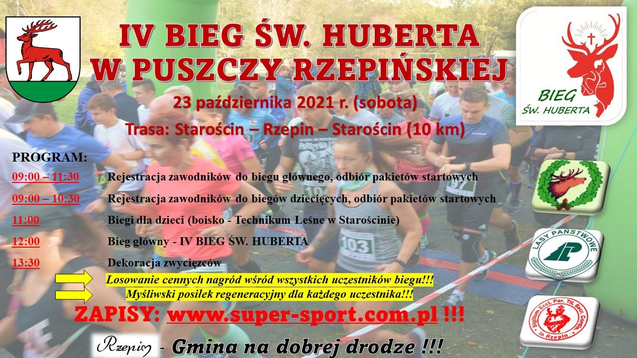Ilustracja do informacji: Przed nami IV Bieg Św. Huberta w Puszczy Rzepińskiej!